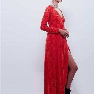 Free People X Sunday Lace Wrap Dress Size XS